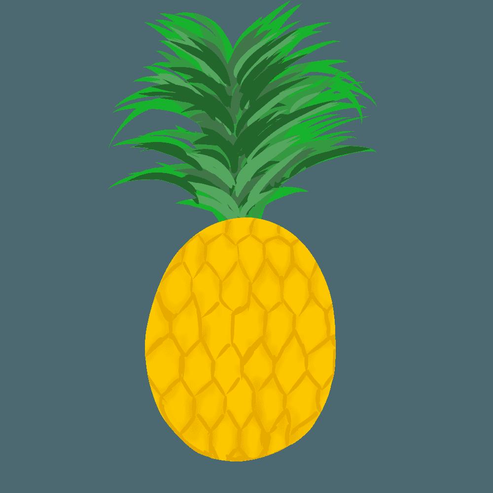 可愛いパイナップルイラスト