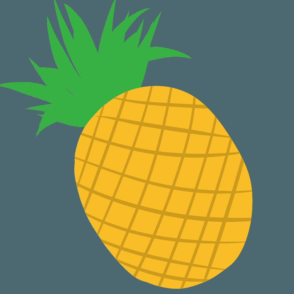 可愛いシンプルなパイナップルイラスト