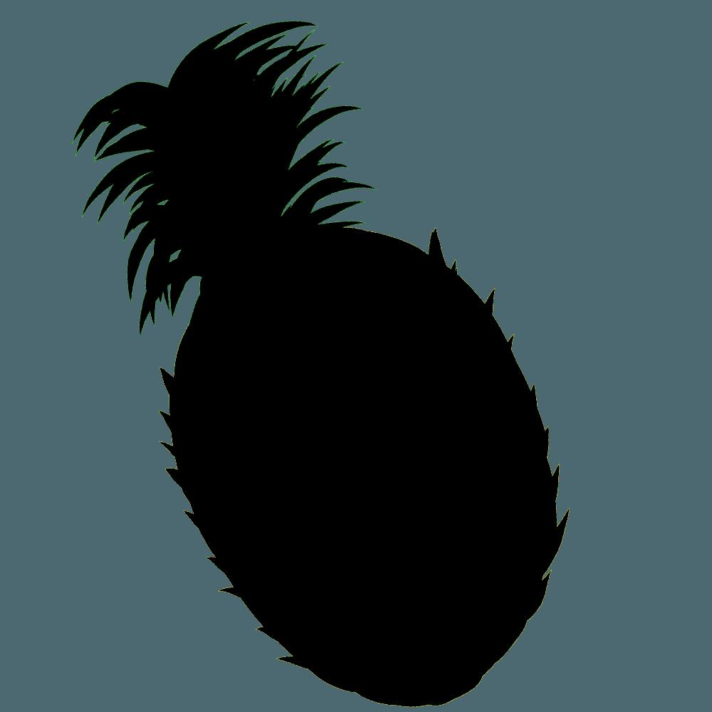 パイナップルのシルエットイラスト
