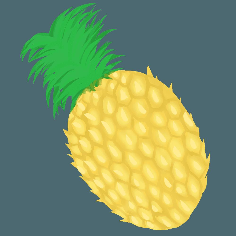 淡い色のパイナップルイラスト