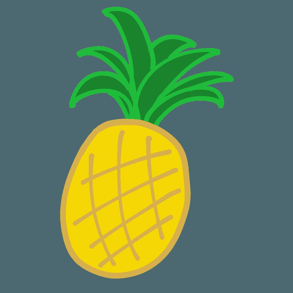 シンプルなパイナップルイラスト