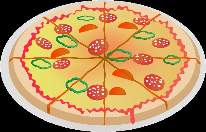 可愛いピザのイラスト