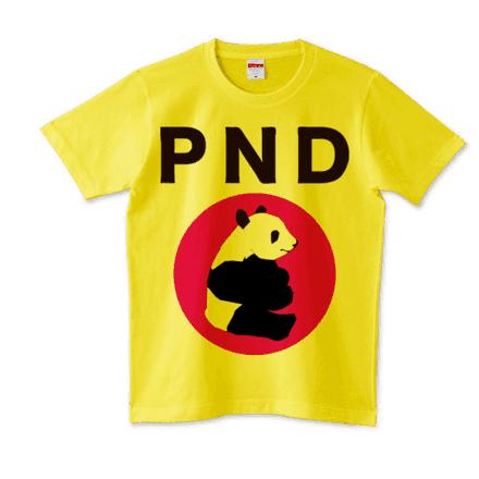 パンダのオリジナルTシャツーイエロー
