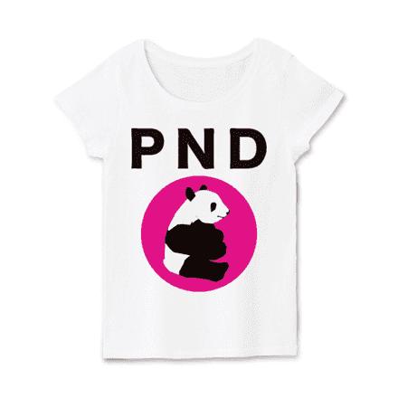 レディースホワイトパンダTシャツ