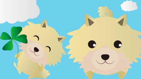 ポメラニアンのイラスト - フリーの可愛い犬の素材