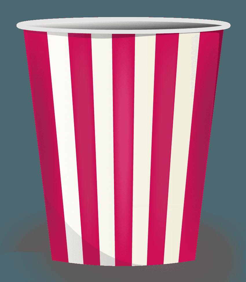 ポップコーンの容器のイラスト