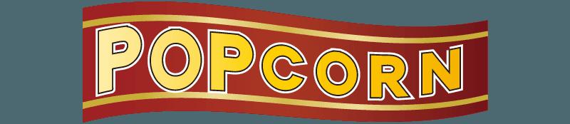 なびいているポップコーンのロゴのイラスト