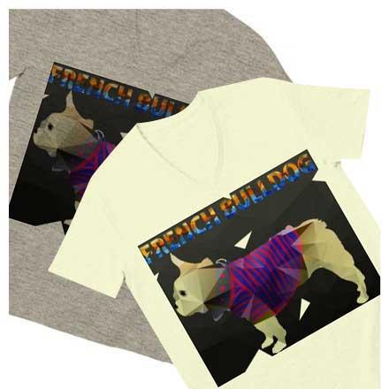 平面だけど立体に見えるポリゴンフレブルTシャツ