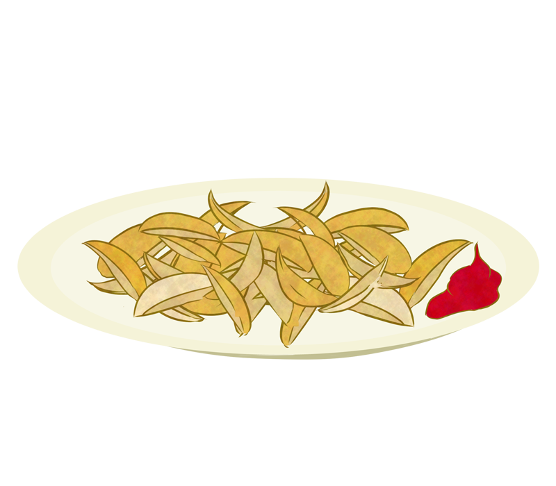 フライドポテト(厚切り)のイラスト