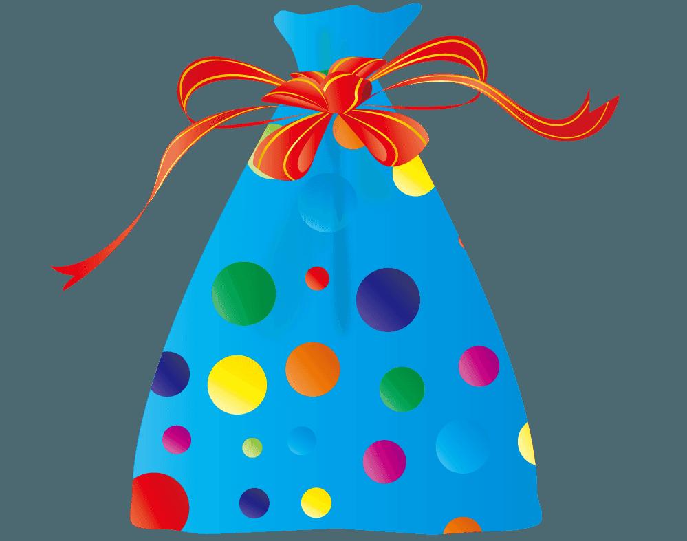 袋に入った男の子用のプレゼントイラスト