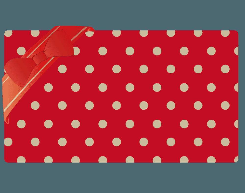 シンプルな赤いプレゼントイラスト