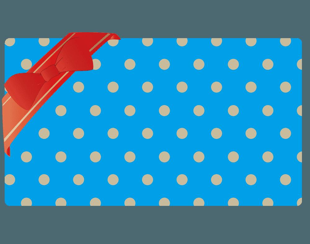 四角いシンプルなプレゼントイラスト