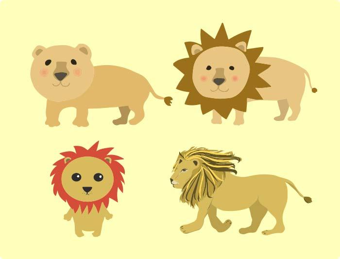 ライオンのベクター素材