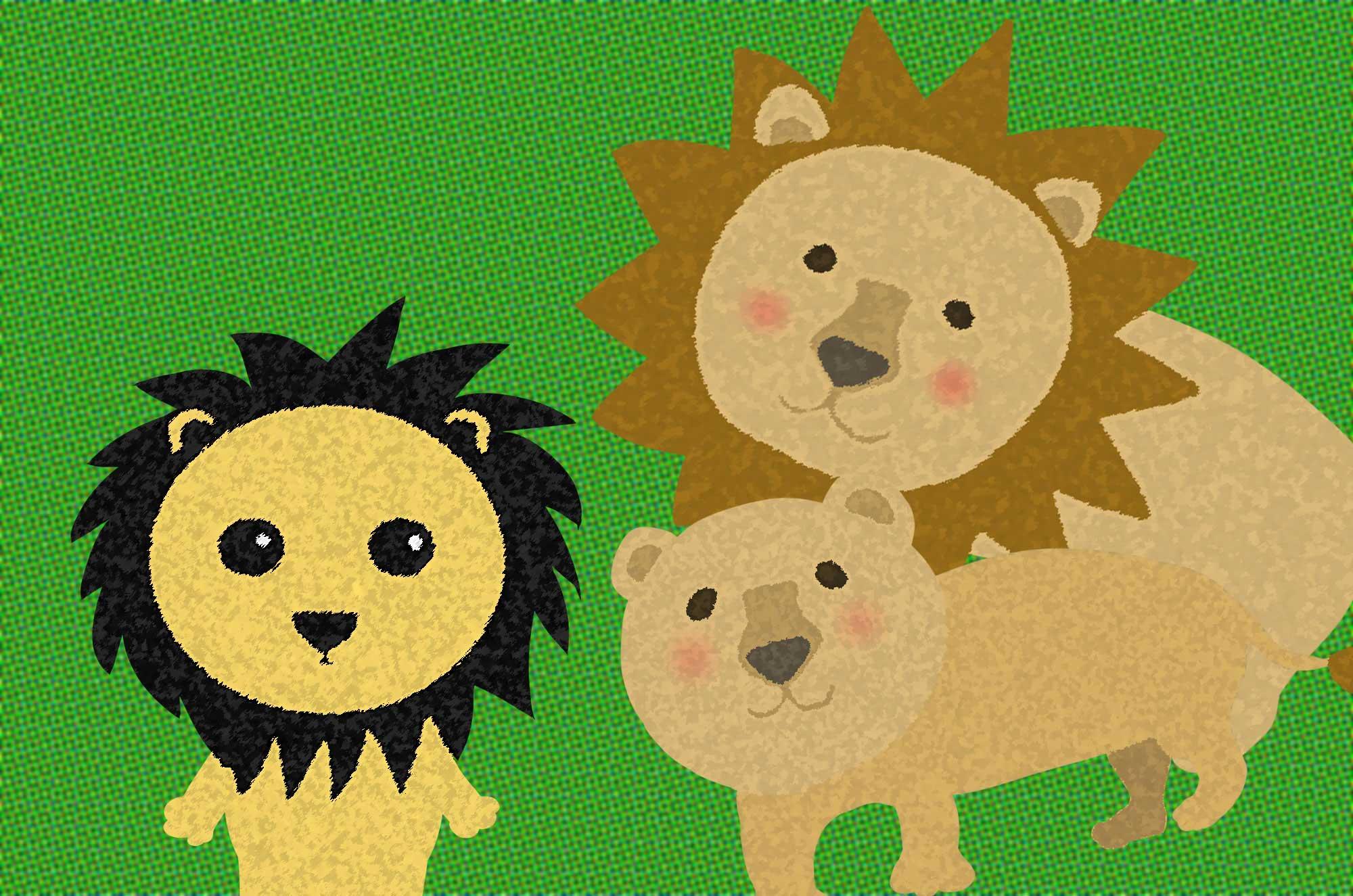 ライオンのイラスト - かわいい・かっこいい動物素材集