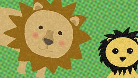 ライオンイラスト☆かわいい/かっこいい/動物素材集!