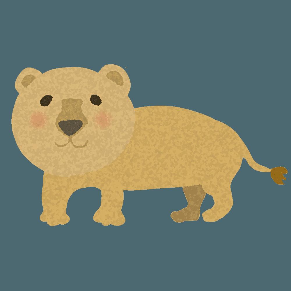 やわらかい感じのメスのライオンイラスト