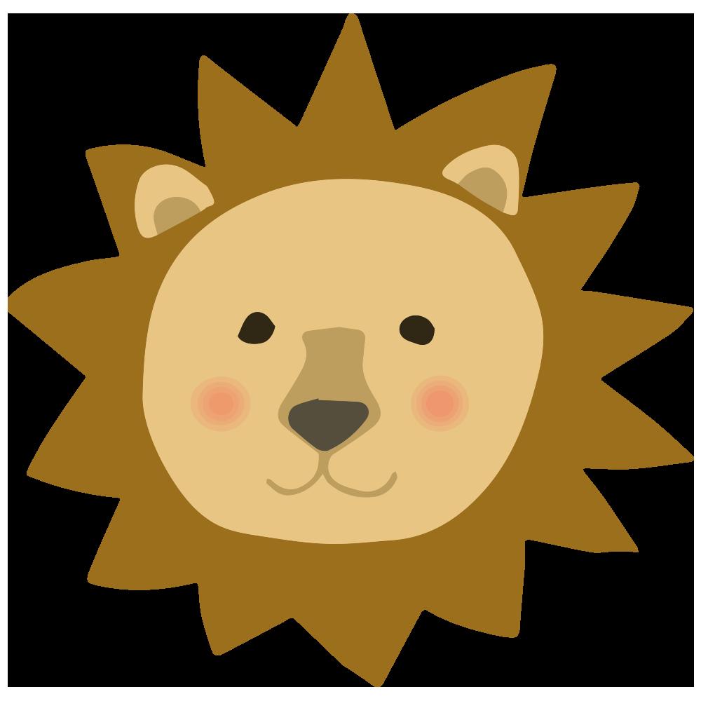 ライオン顔マークのイラスト