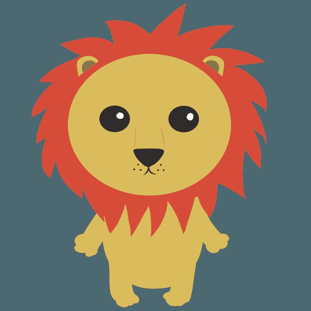 立っているライオンイラスト