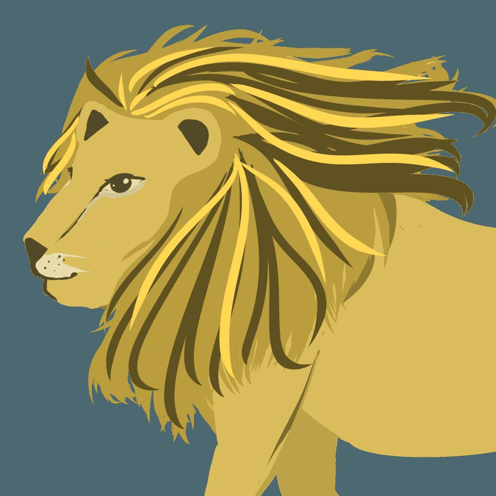 シンプルなライオンイラスト