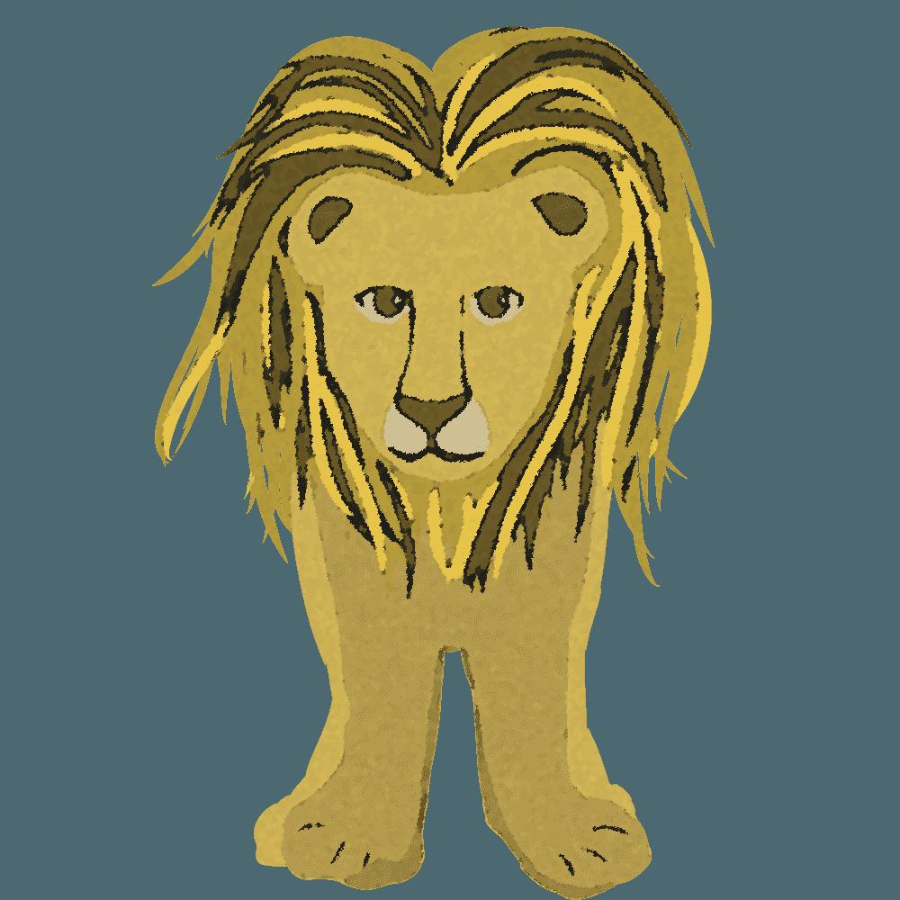 テクスチャの入ったら正面のライオンイラスト
