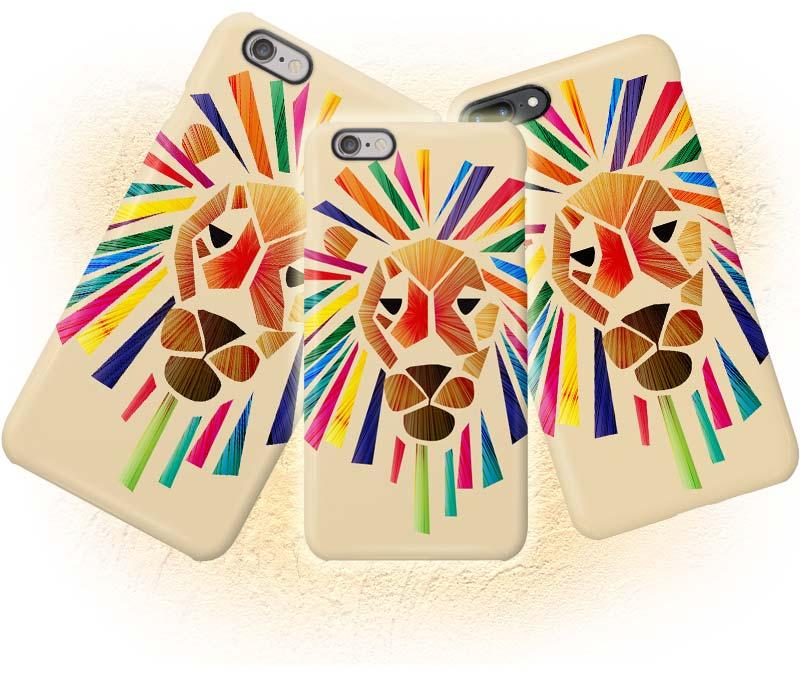 ビビッドなライオンのiphoneスマホケース