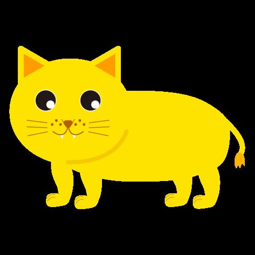 かわいいライオン(めす)のイラスト