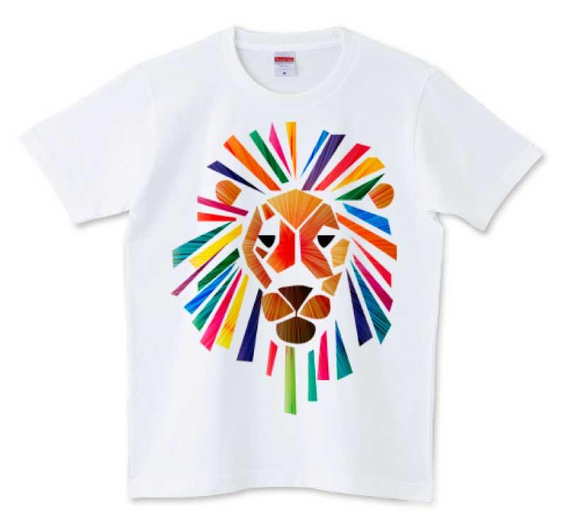 ビビッドなライオンTシャツ