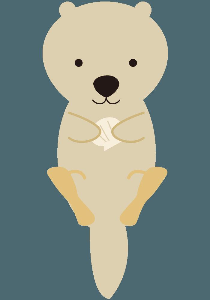 赤ちゃんのラッコイラスト