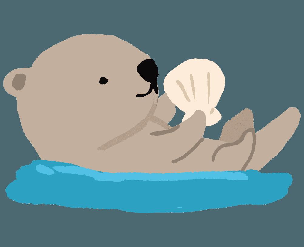 ラッコのイラスト 海にプカプカ浮く可愛い無料動物素材 チコデザ