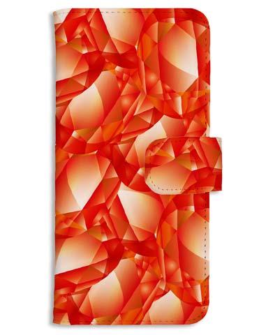 レッドルビーの手帳型・iphoneスマホケース