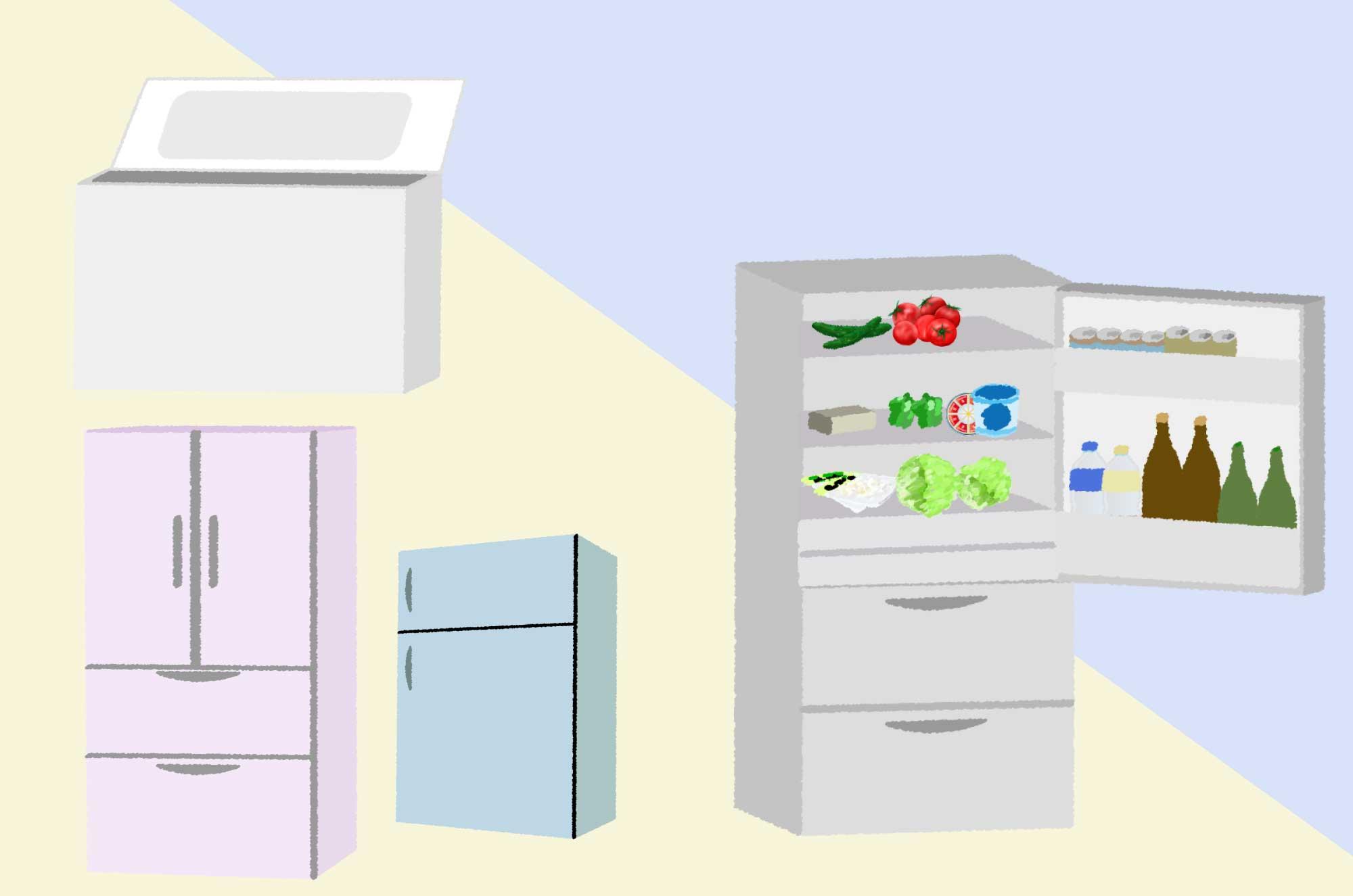 冷蔵庫のイラスト - 中型・大型・冷凍庫の無料素材