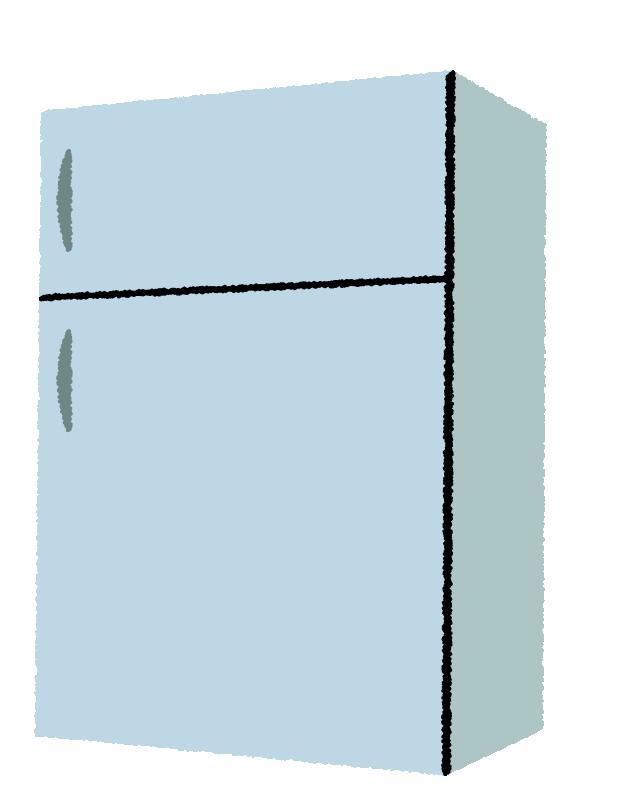 中型の冷蔵庫のイラスト