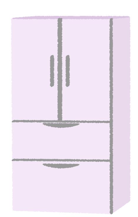大型の冷蔵庫のイラスト