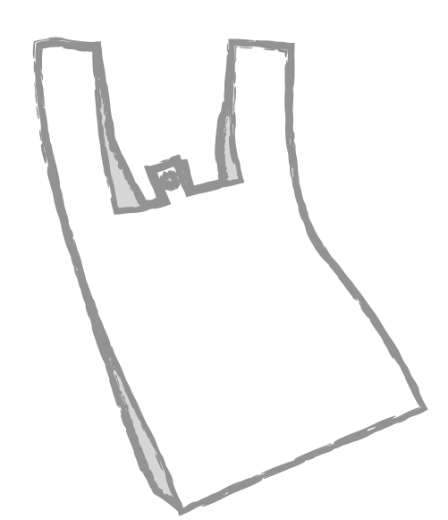 手書きのレジ袋のイラスト2