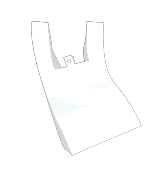 シンプルなレジ袋のイラスト