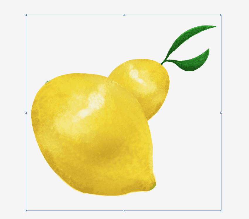 ダウンロードしてillustratorで開いたレモンのイラスト