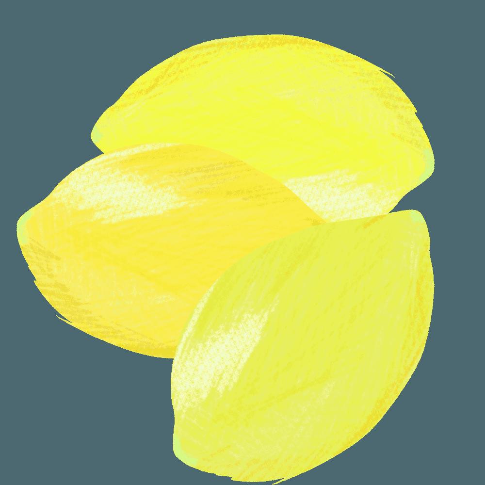 いっぱいあるレモンイラスト