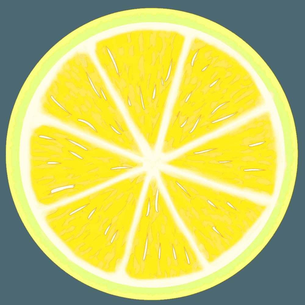 可愛い輪切りのレモンイラスト