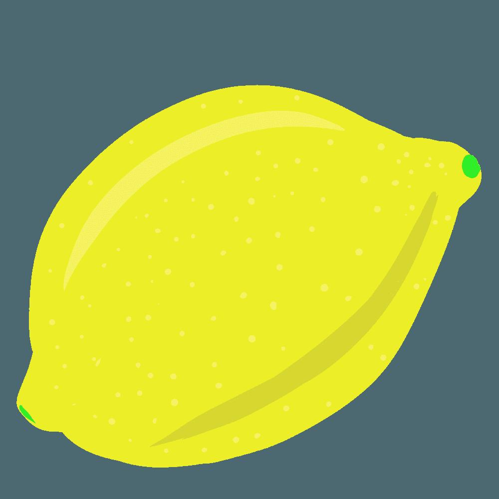 カットアウト風のレモンイラスト