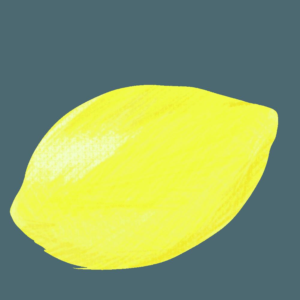 手描き風のレモンイラスト