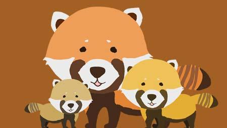 可愛いレッサーパンダのイラスト - おもしろ動物素材