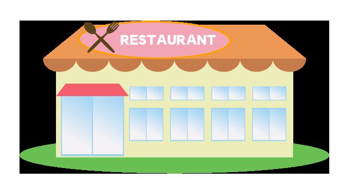 可愛いレストランのイラスト