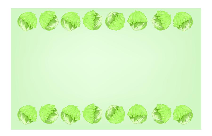 レタスフレーム(葉っぱ900×577)