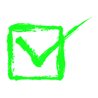 チェックボックス(緑)のイラスト6