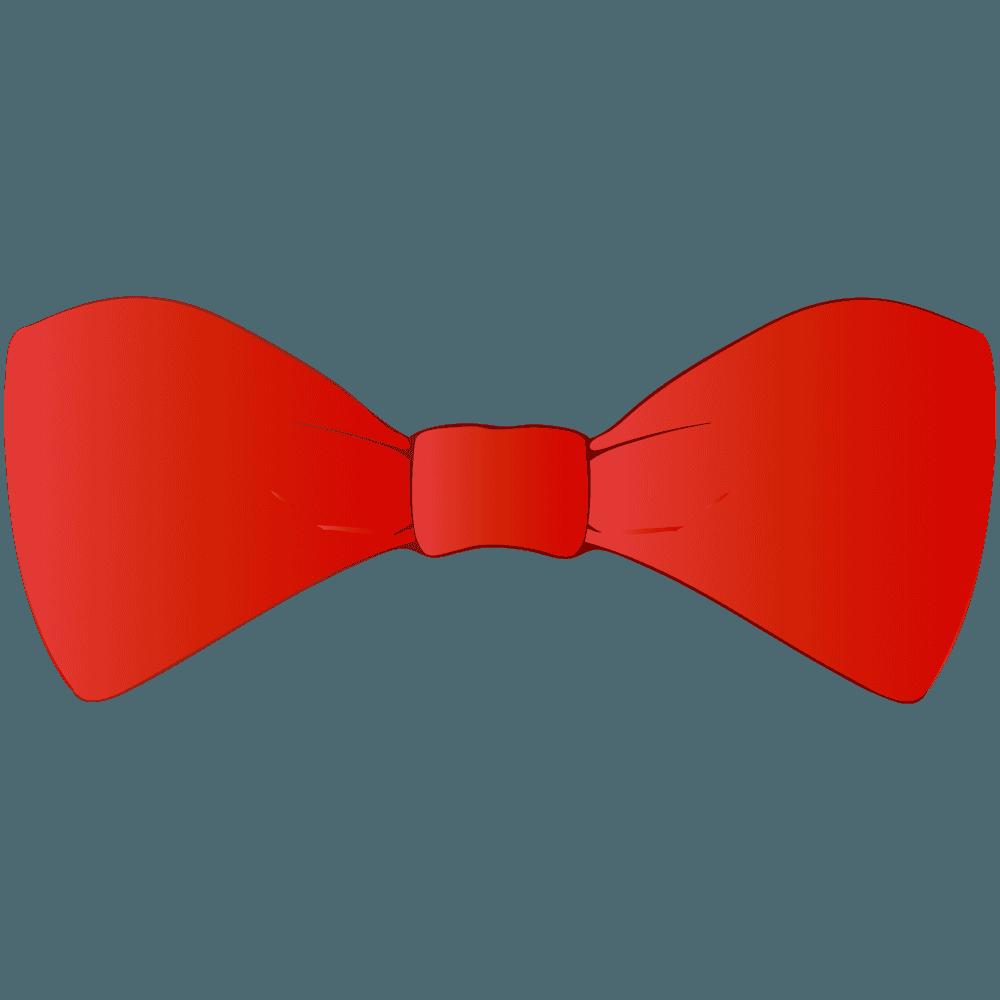 赤い蝶々結びリボンイラスト