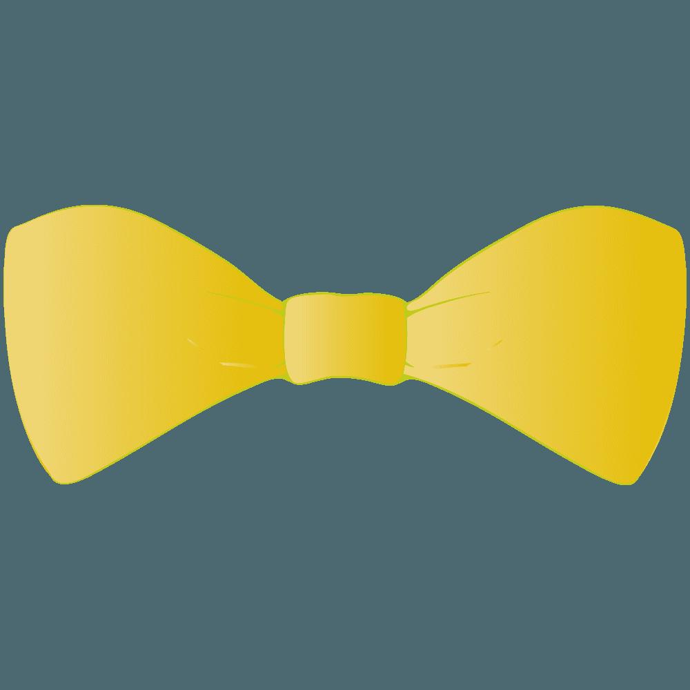 黄色い蝶々結びリボンイラスト