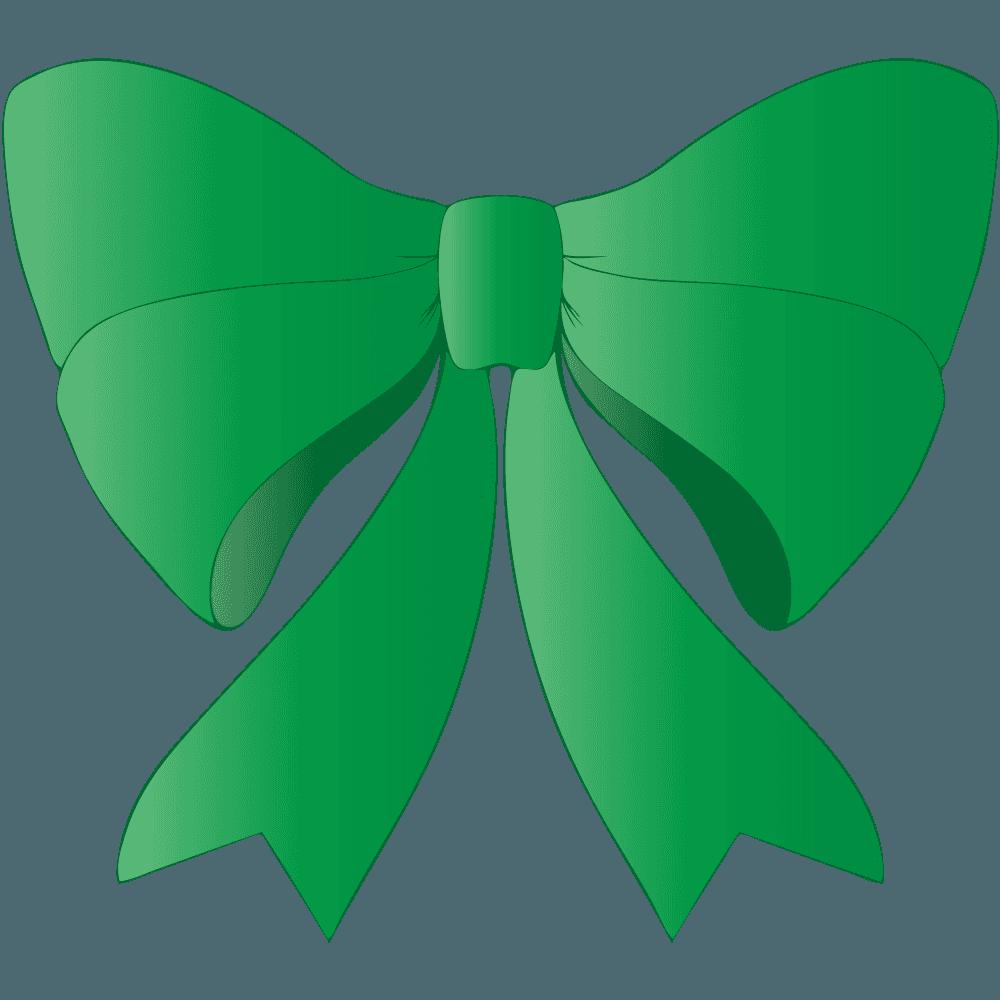 緑のリボンイラスト