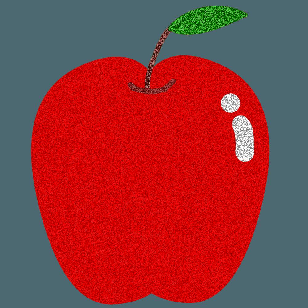 くすんだ赤のりんご