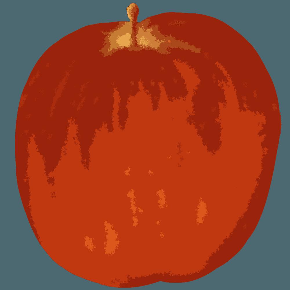 カットアウト風のりんごイラスト