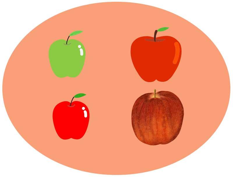 りんごのベクターイラスト素材
